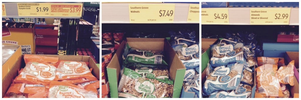 nuts and seeds at aldi