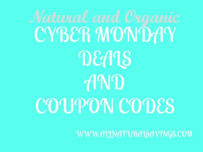 organic coupon codes and deals cyber monday