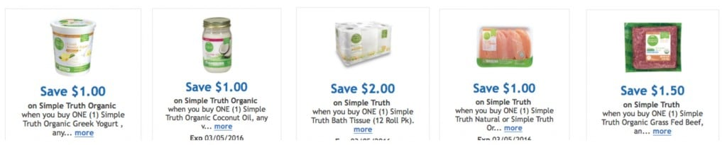 new simple truth organic kroger coupons