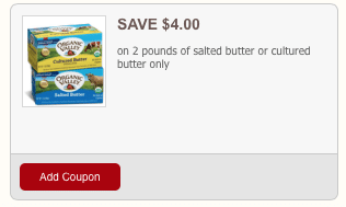 organic valley butter coupons