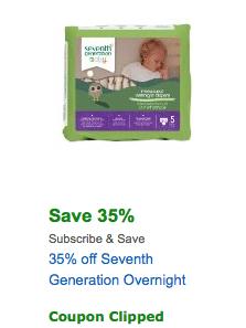 amazon seventh generation coupons