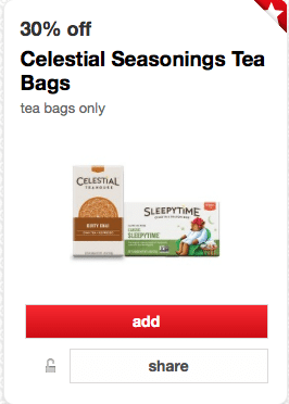 celestial seasonings tea target