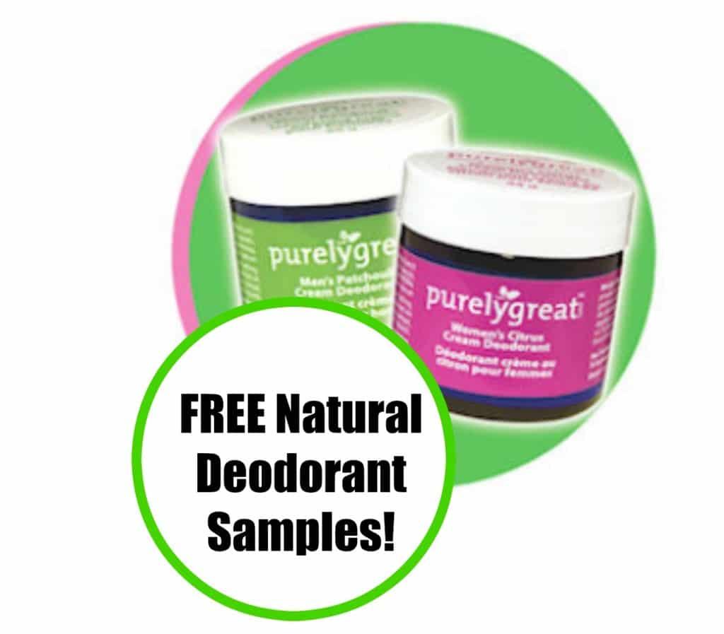 free natural deodorant samples