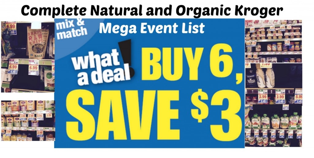 kroger organic products mega event
