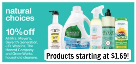natural cleaning sale target