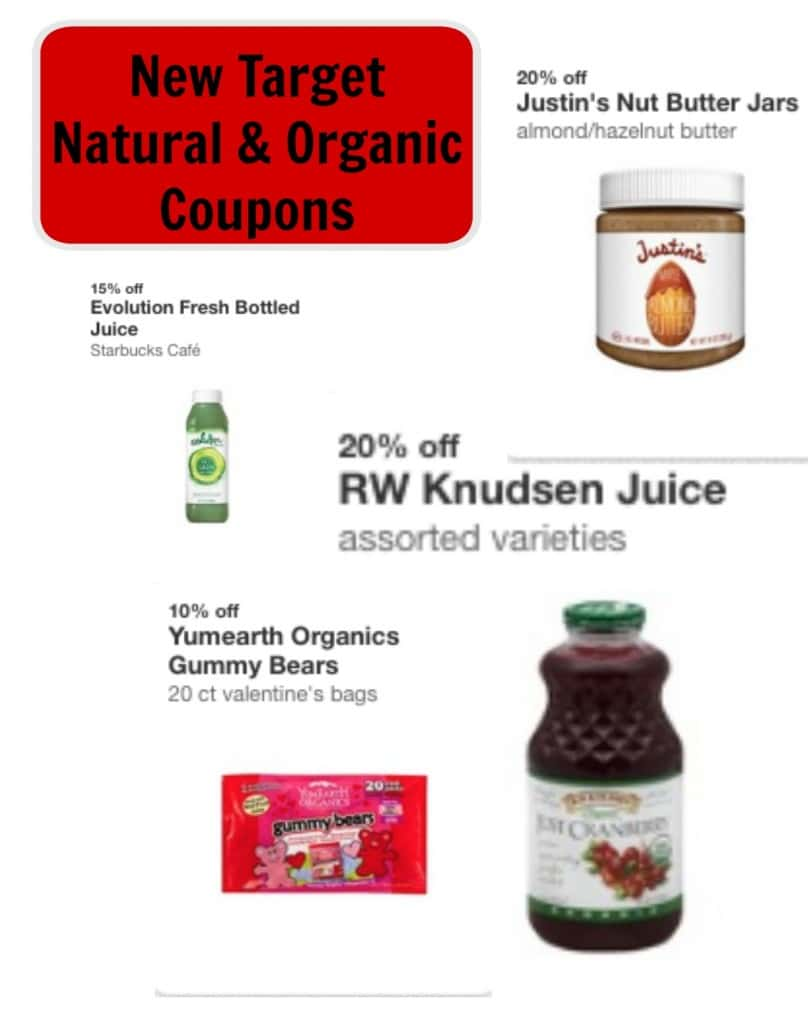 new target natural and organic coupons