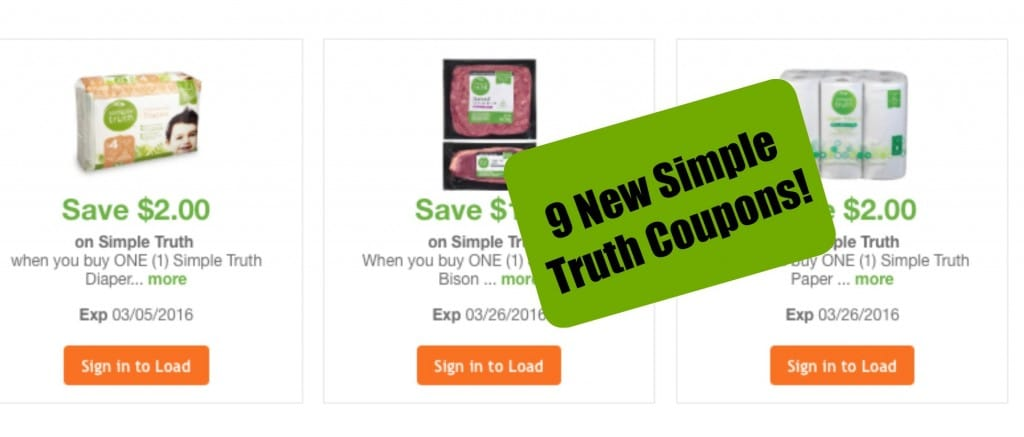 simple truth organic coupons kroger natural