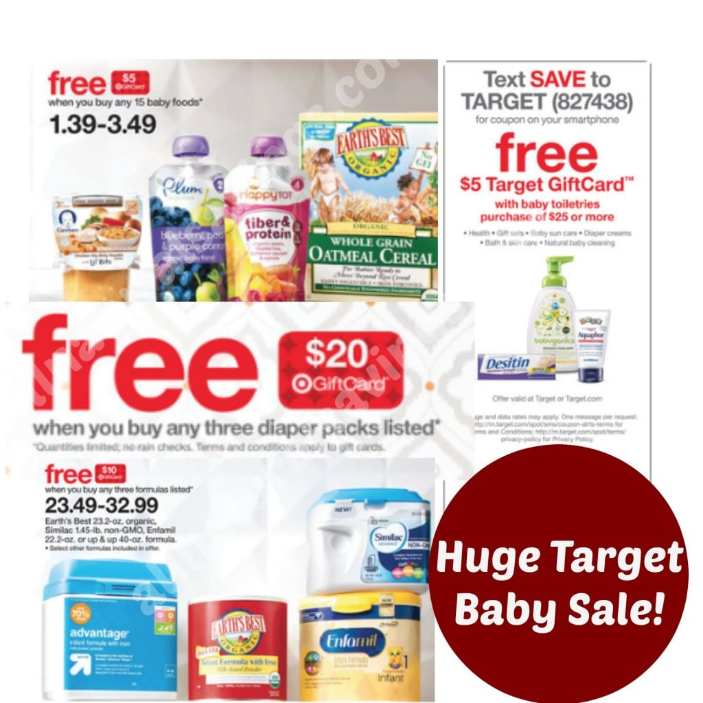 target natural and organic baby sale