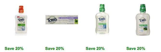 tom's of maine coupons amazon