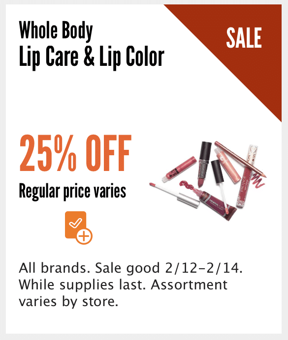 whole foods lip sale