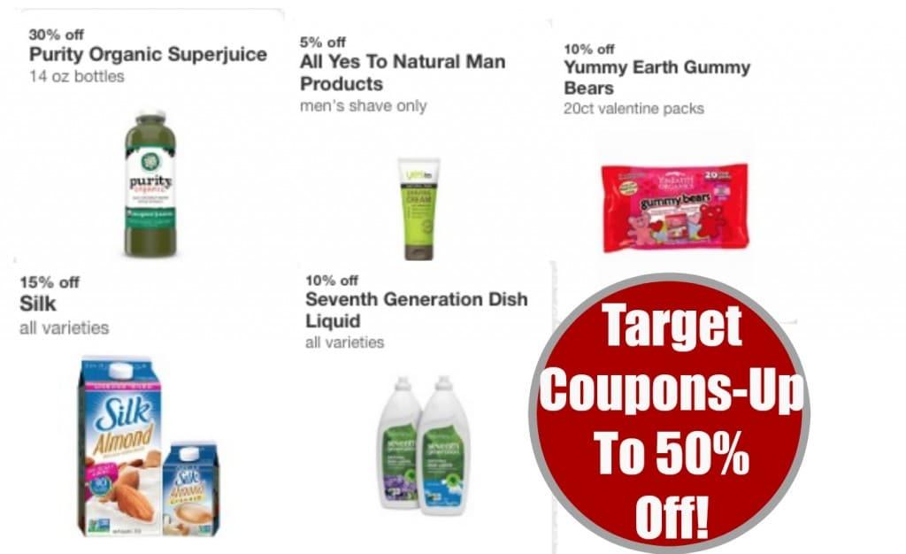 target cartwheel natural and organic coupons