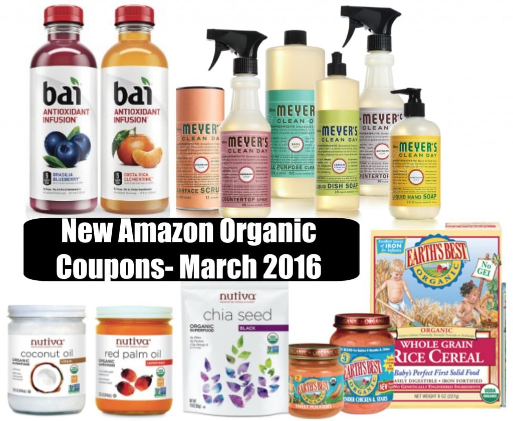 new amazon natural and organic coupons march 2016