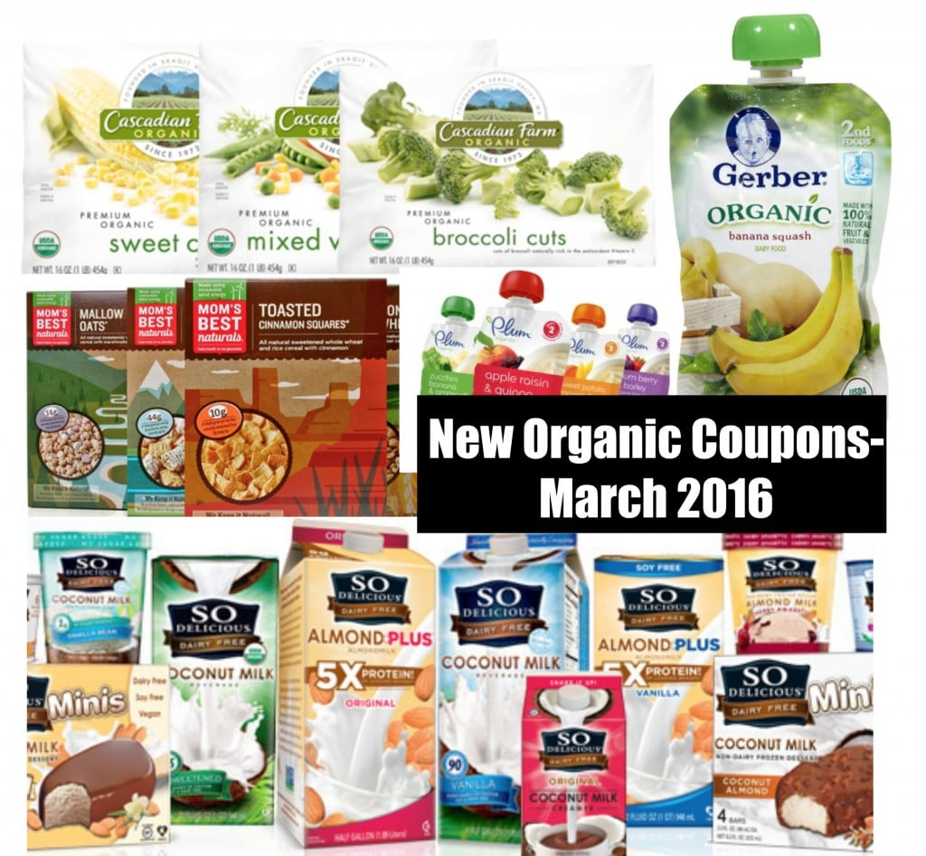 new organic coupons march 2016