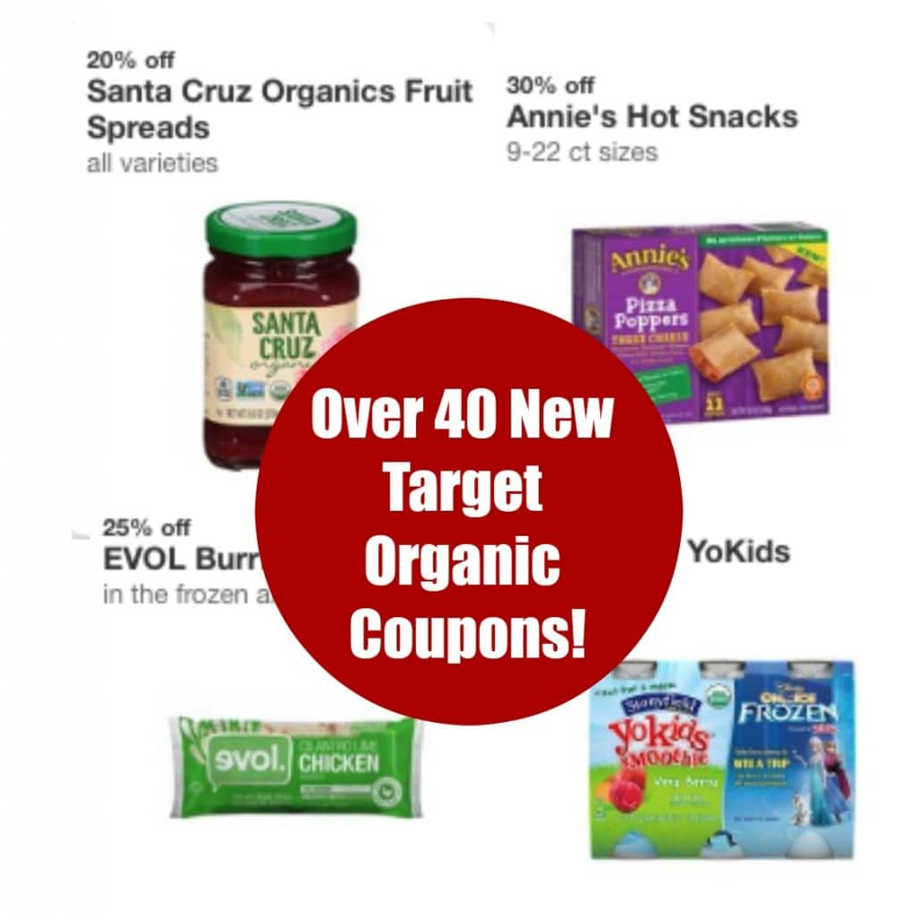 over 40 new target organic coupons