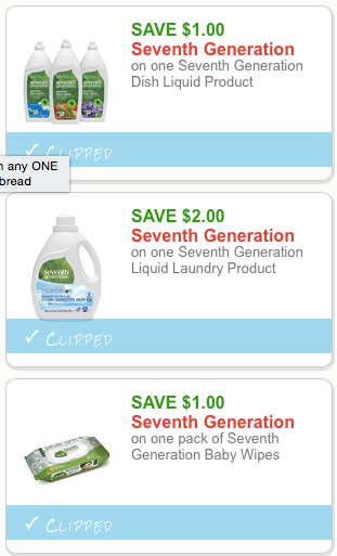 image about Seventh Generation Printable Coupons identify 3 Clean 7th Manufacturing Discount coupons Additionally Application Deals and
