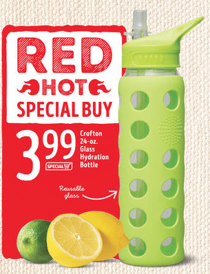 aldi glass water bottle