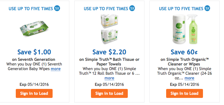 kroger digital organic coupons 5 times