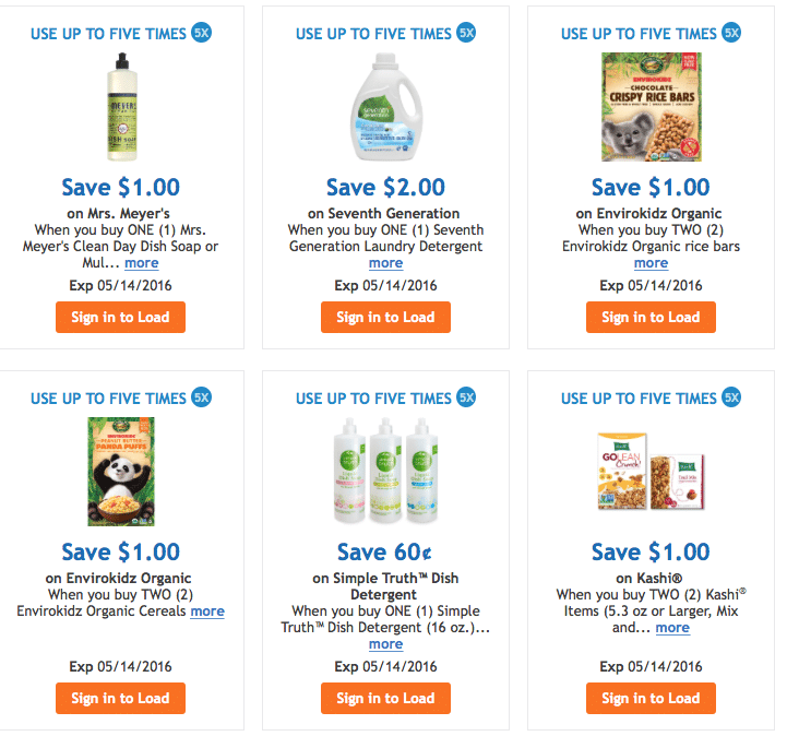 kroger organic coupons
