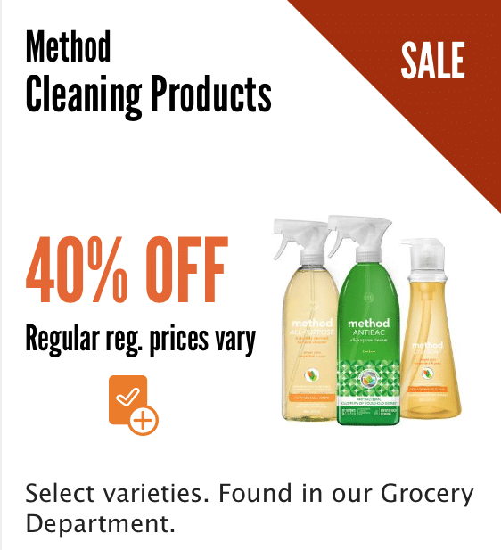 method sale whole foods