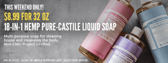 dr. bronner's sale whole foods