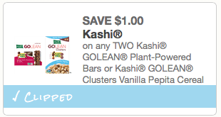 kashi cereal or bars coupon
