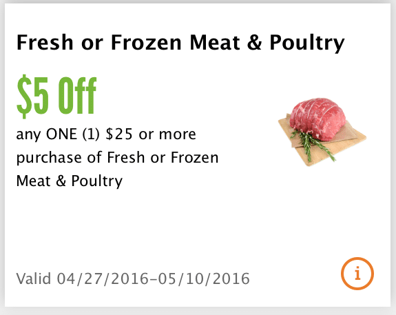 whole foods app coupon meat