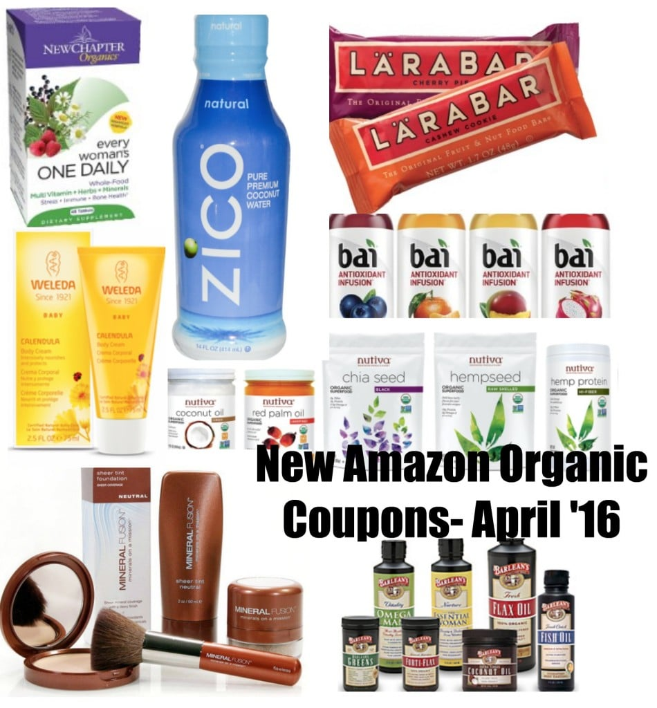 amazon natural and organic coupons april 2016