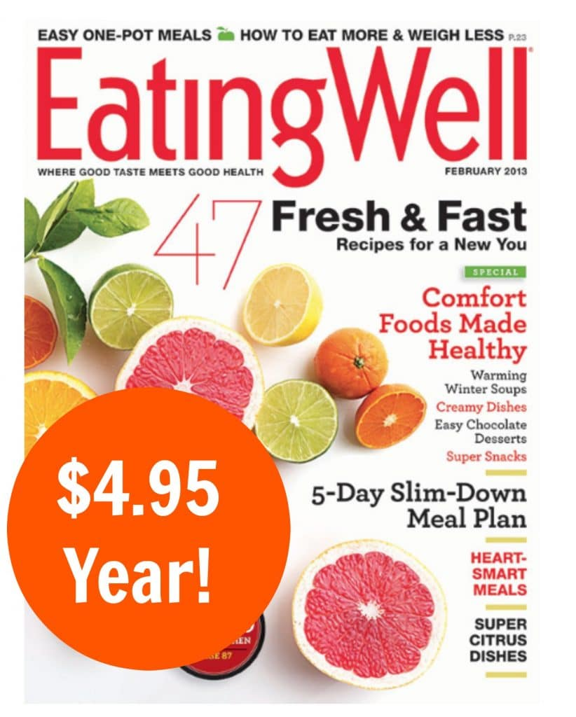 eating well magazine deal 4.95 year