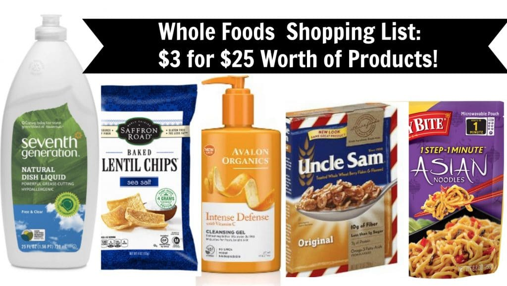 whole foods coupon matchups $3 for $25