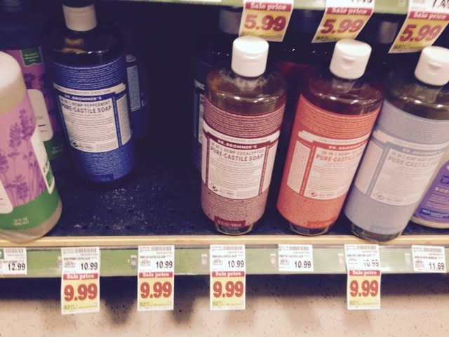 kroger dr. bronner's castile oil hot price deal