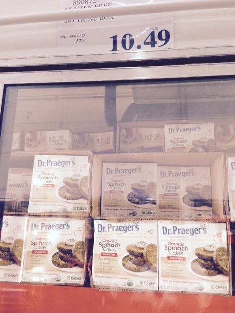 dr. praeger's organic spinach cakes costco