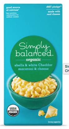 simply balanced organic mac and cheese