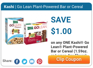 kashi cereal and bars coupon $1