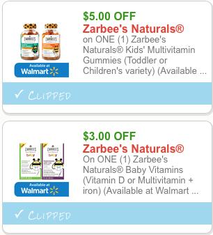 zarbee's coupons kids baby gummy naturals