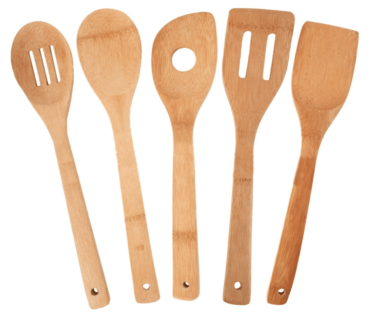 bamboo utensil kitchen set amazon