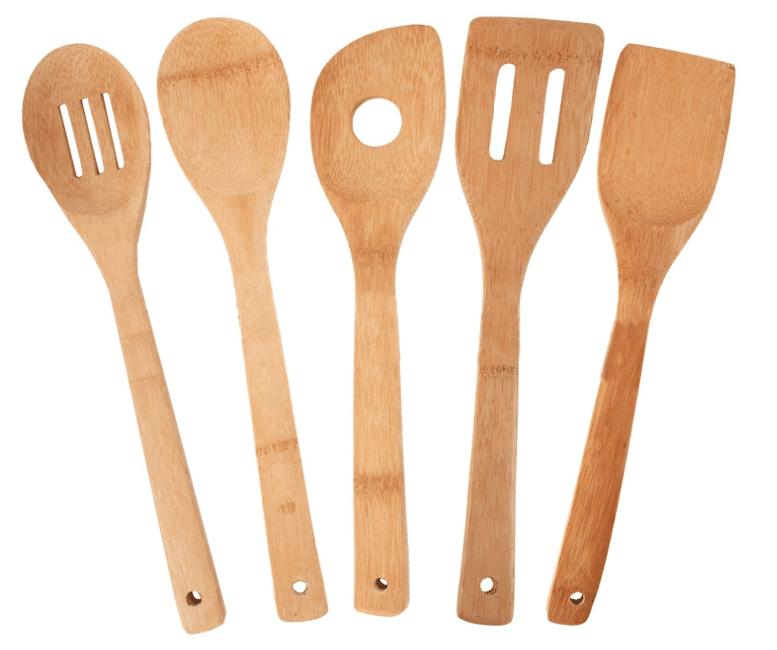 bamboo utensil kitchen set amazon