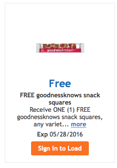 free goodness knows snack bar kroger