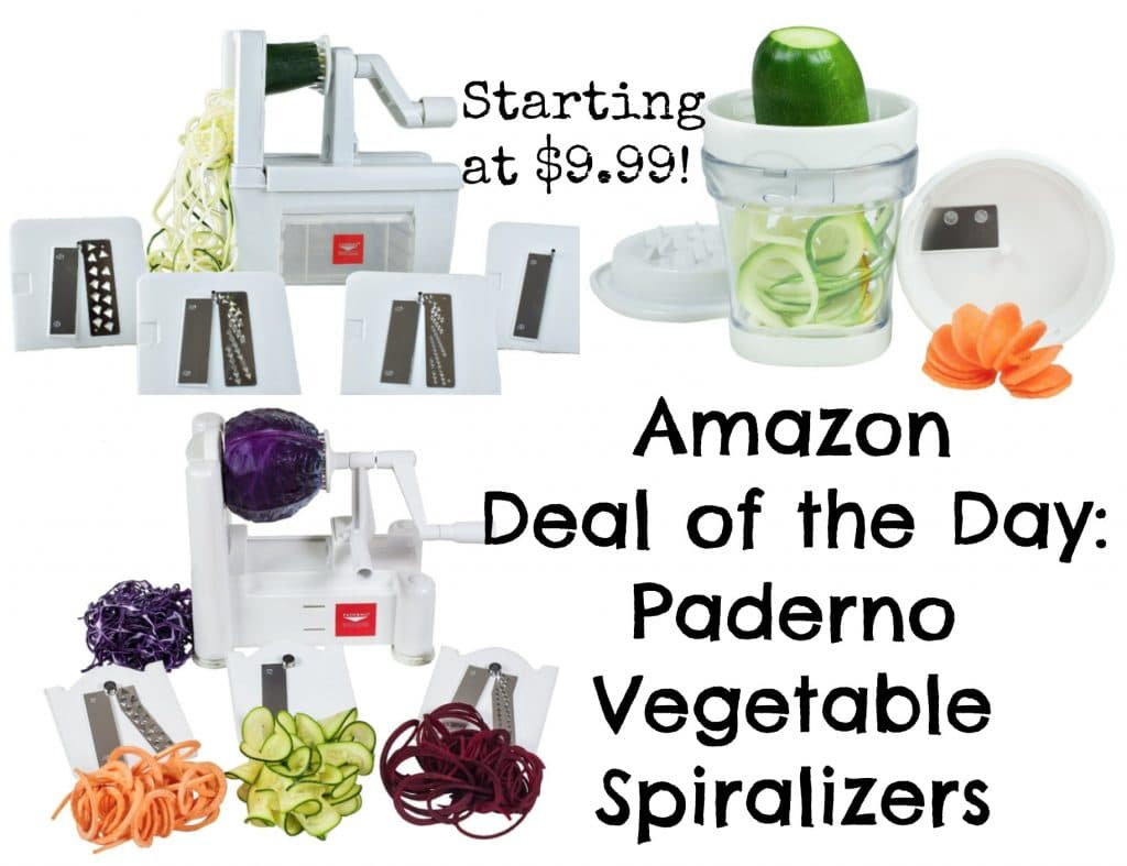 amazon deal of the day paderno vegetable spiralizers