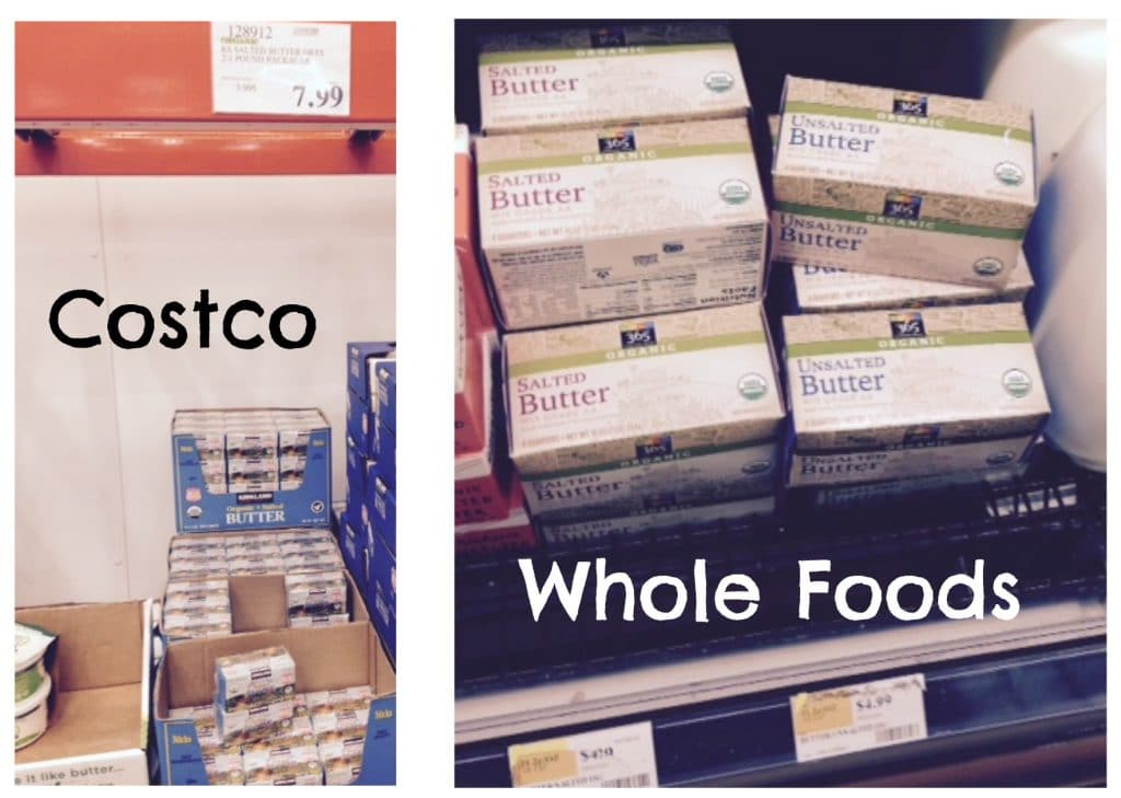 butter prices organic costco whole foods