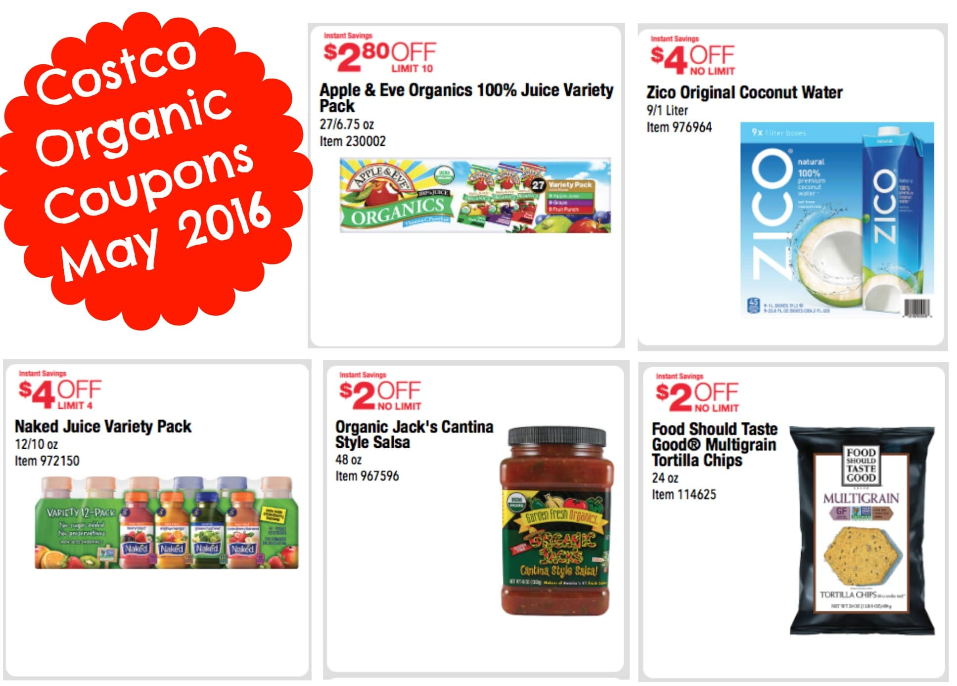 Costco: New Natural and Organic Coupons May 2016 Plus *Hot* Honest ...