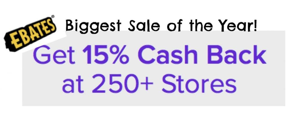 ebates biggest sale of the year 15 off