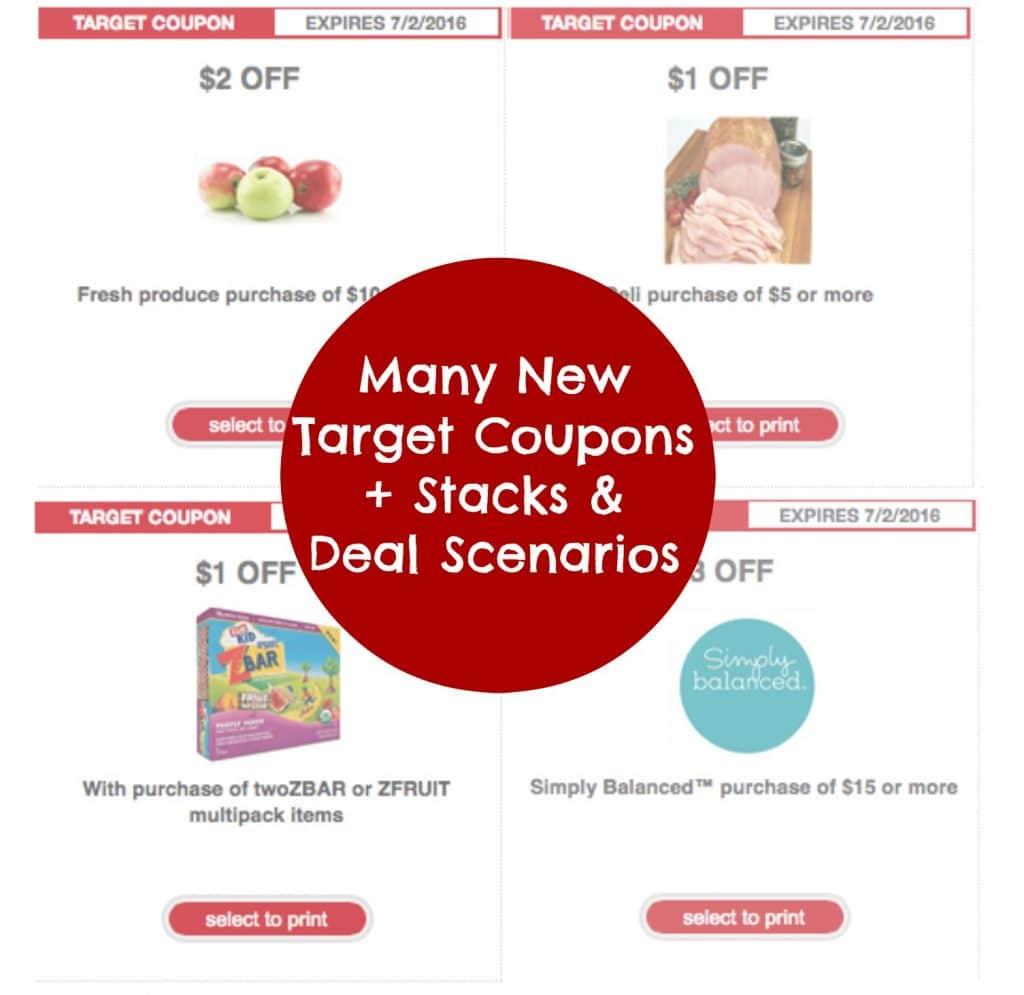 target organic coupons