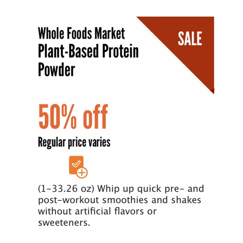 whole foods plant based protein powder sale