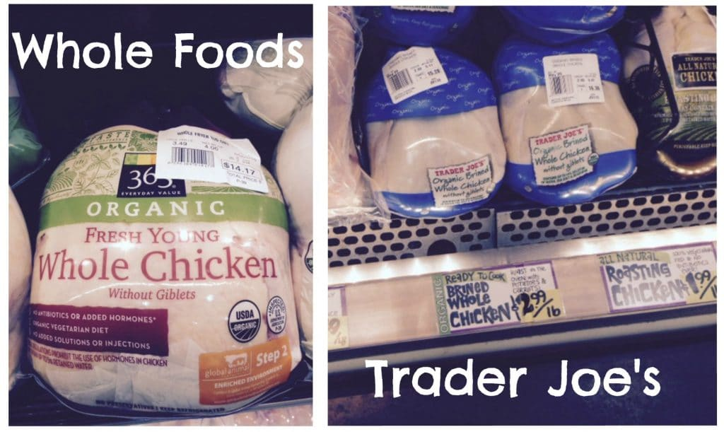 whole foods trader joes chicken organic prices