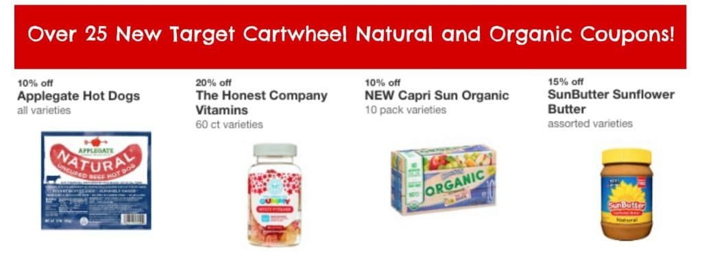 25 new target cartwheel natural and organic coupons