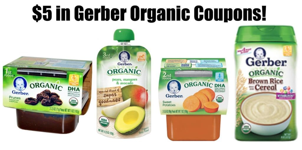 $5 gerber organic coupons