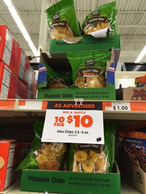 plantain chips big lots