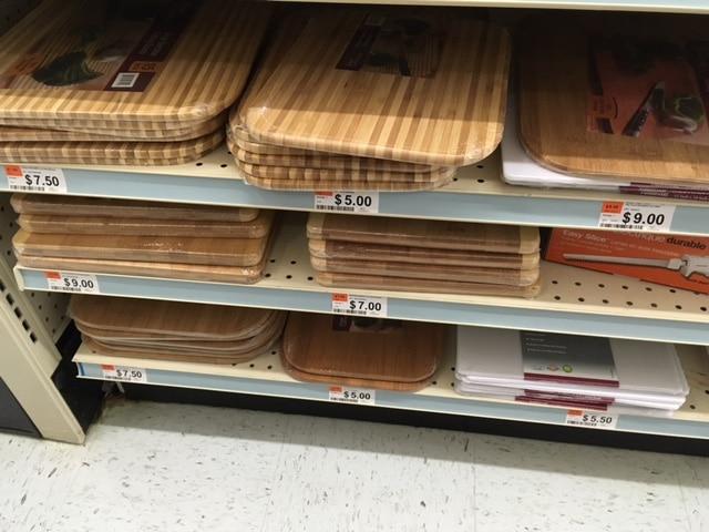 big lots bamboo cutting boards