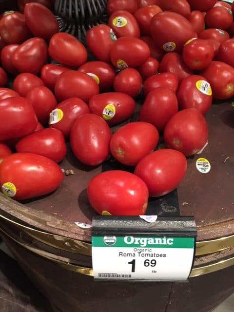 lowest price on organic tomatoes coupon