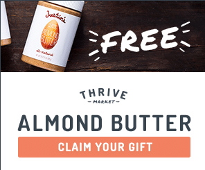 thrive market free justin's nut butter almond